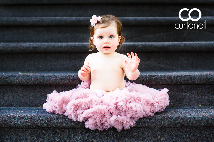 Sault Ste Marie Baby Photography - Ava at one year - sneak peek, steps, summer. tutu