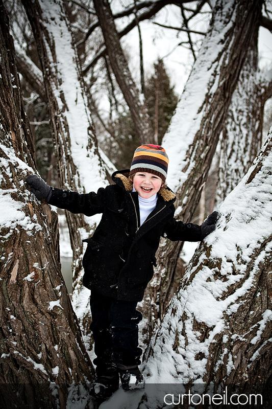 Alexander - Jaxon in a tree